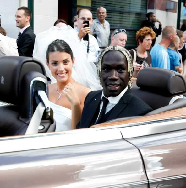 Bacary Sagna, le défenseur de l'équipe de France, et sa compagne Ludivine