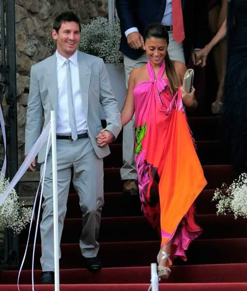 Lionel Messi et Antonella Roccuzzo aiment décidément beaucoup les couleurs...