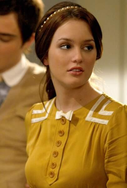 Blair, la championne du look dans Gossip Girl apprécie le classique un brin décalé