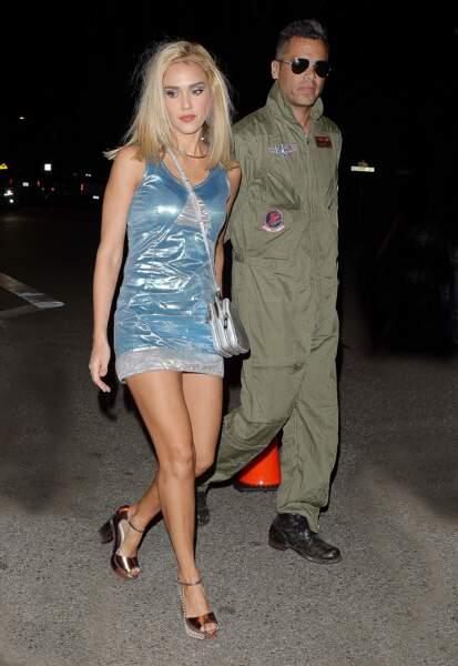 Son mari, Cash Warren, était en mode Top Gun.