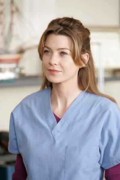 Voici Meredith (Ellen Pompeo), l'héroïne. Une brillante chirurgienne mais moins douée dans sa vie privée...