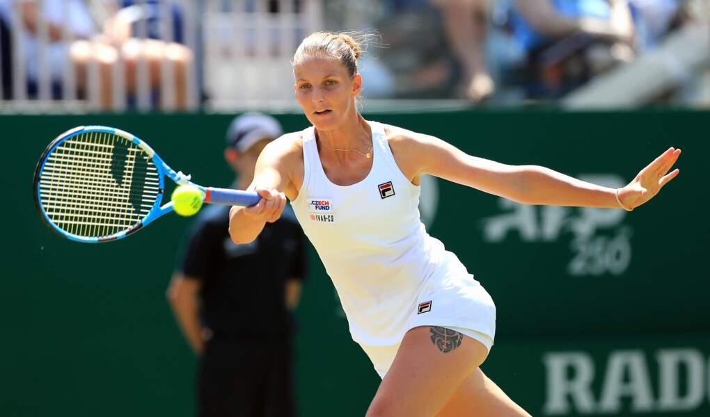 Karolina Pliskova est l'une des rares joueuses de tennis tatouées