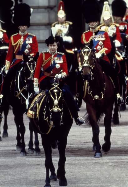 … ou dans les années 1980. LA patronne, c'est la reine Elisabeth !