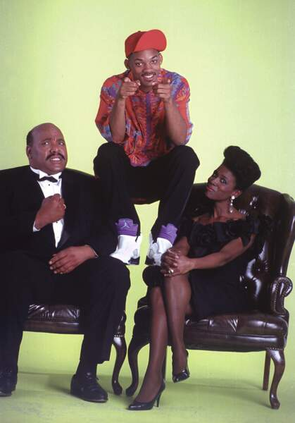 Oncle Phil (James Avery), sa femme Vivian Banks et le neveu de celle-ci Will