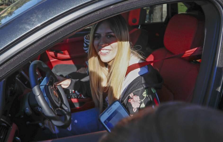 La sœur du marié, Mari Sol Messi, à son arrivée au City Center Hotel où avait lieu la cérémonie