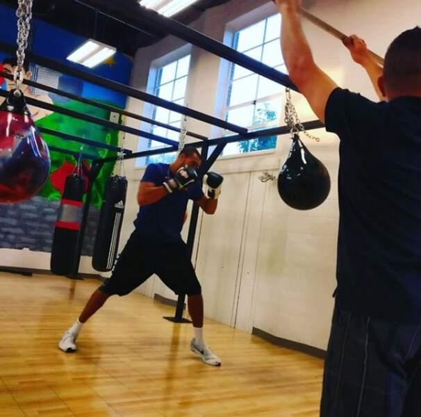 La boxe, son autre sport de prédilection