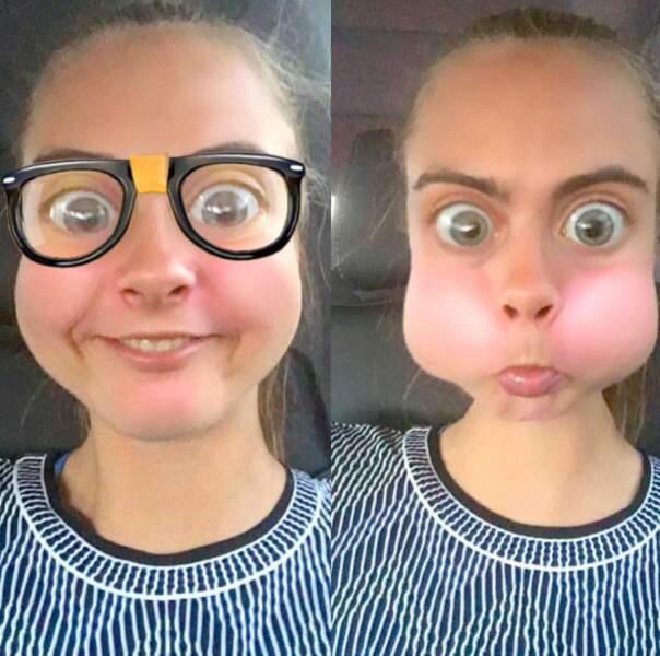 Et Cara Delevingne a fait mumuse sur Snapchat.
