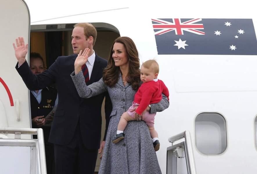 En avril 2014, le duc et la duchesse emmènent George pour son premier voyage officiel en Océanie