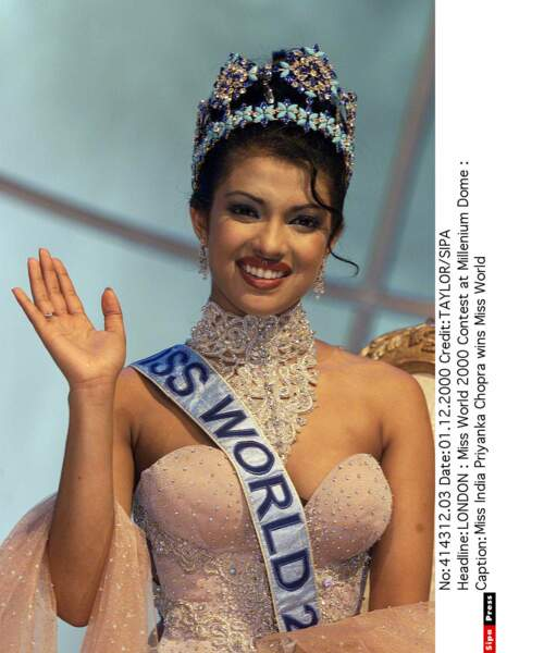 La Miss Inde Priyanka Chopra devient Miss Monde en 2010