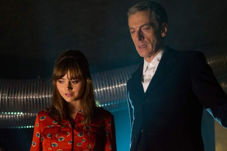 Peter Capaldi, 12ème et dernier Doctor Who en date, avec Jenna Coleman (Clara Oswald)
