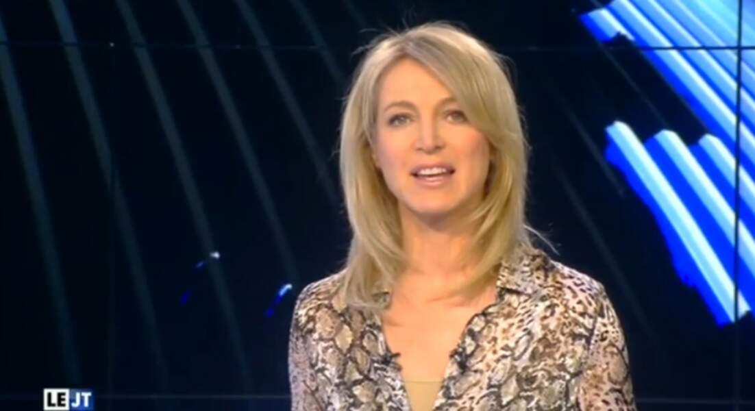 ...et sur celui du JT de Canal + ! Florence Dauchez porte plutôt bien l'imprimé