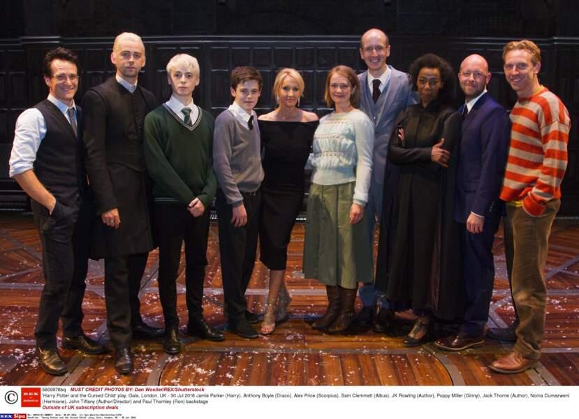 L'équipe de la pièce Harry Potter et l'enfant maudit au complet