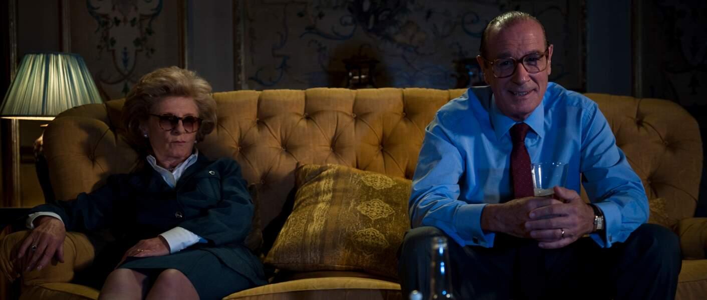 Bernard Le Coq et Michèle Moretti bluffant en couple Chirac dans La Conquête (2011)