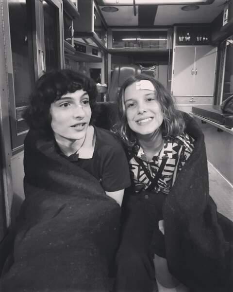 Millie Bobby Brown frigorifiée partage un souvenir du tournage de la saison 3 de Stranger Things avec Finn Wolfhard