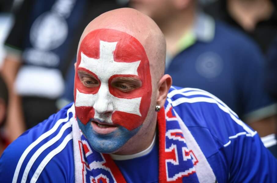 Ce supporter slovaque n'a rien à lui envier