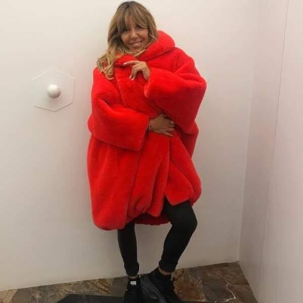 Et Cathy Guetta a trouvé un beau compromis entre la polaire de rando Quechua et le manteau d'hiver.