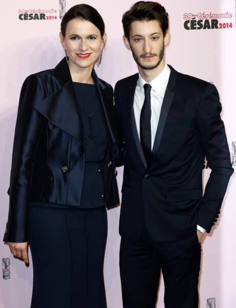 La Ministre de la Culture, Aurélie Fillipetti, avec l'un des acteurs phares du moment, Pierre Niney.