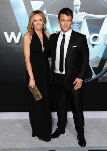 L'acteur était accompagné de son épouse Samantha