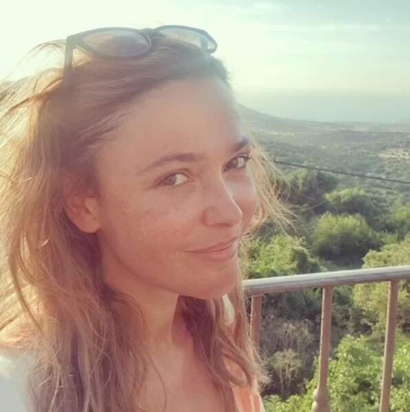 Sandrine Quétier avait une vue de rêve en Corse.