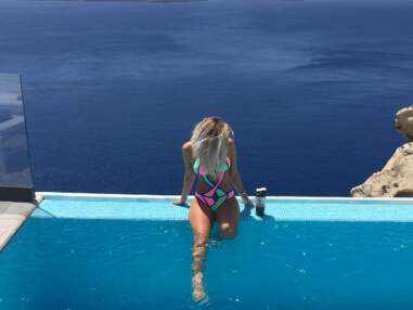 Piscine, soleil et farniente : vacances idylliques pour Mélanie Da Cruz en Grèce