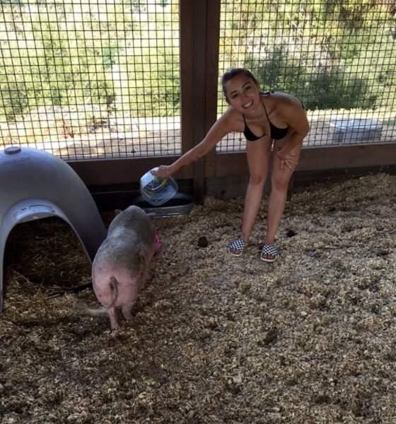 Miley, l'amie de tous les animaux !