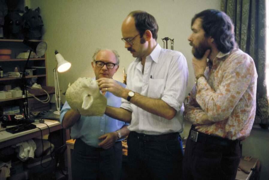 Le créateur de Yoda Stuart Freeborn, son opérateur ainsi que Frank Oz, la voix du maître