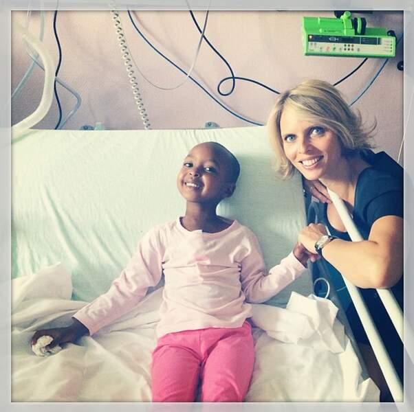 Sylvie Tellier, elle, a soutenu une petite fille opérée du coeur !