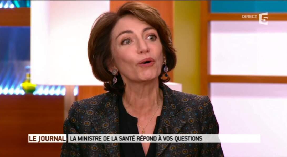 Marisol Touraine, ministre de la Santé, aime elle aussi les couleurs...mais moins pétantes !
