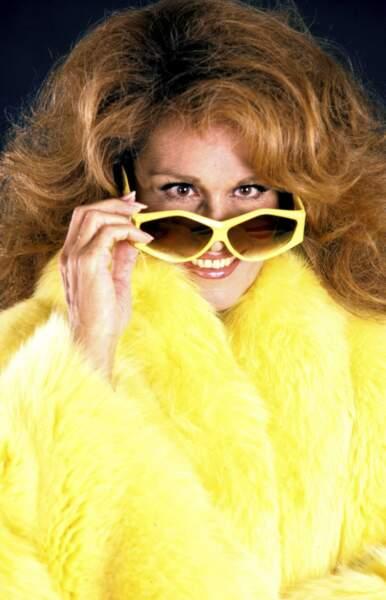 Dalida en 1985 sur la pochette de l'un de ses derniers albums intitulé Dali.