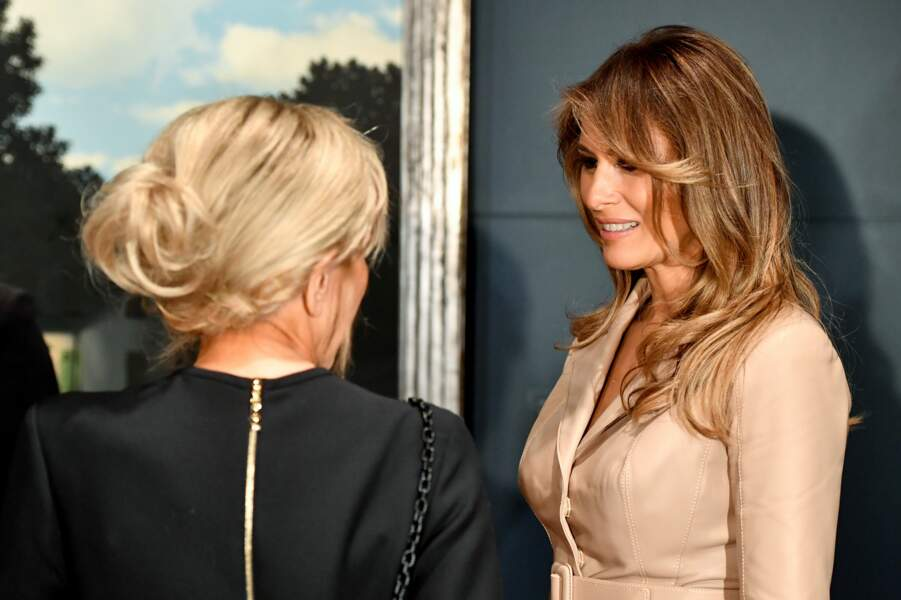 "Surtout, Brigitte Macron a rencontré Melania Trump, la ""First Lady"" made in USA"