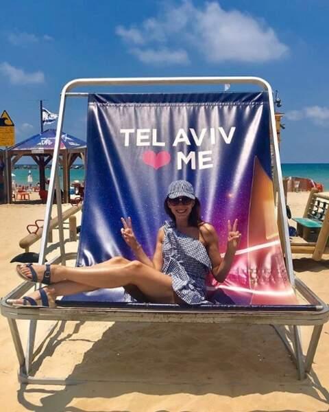 Et Silvia Notargiacomo a enfin trouvé un siège à sa taille à Tel Aviv, youpi !