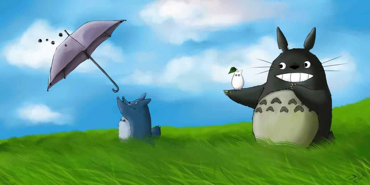Mon voisin Totoro : Créature de Miyazaki qui en a fait sa mascotte, Totoro est sagesse et douceur à la fois