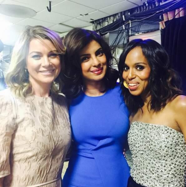 Priyanka n'est pas sectaire et fréquente aussi les filles de Grey's Anatomy et Scandal