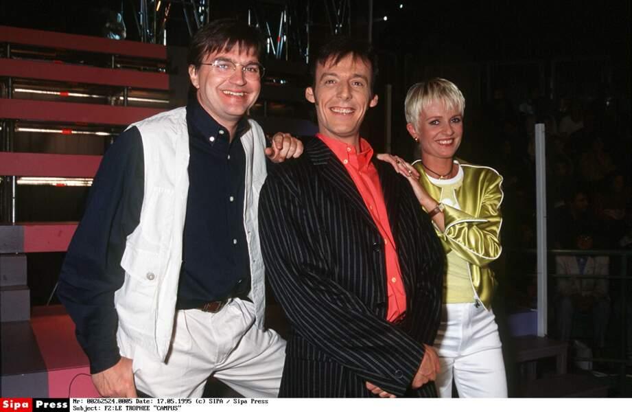 1995 : elle co-anime avec Patrick Montel et Jean-Luc Reichmann Le Trophée Campus sur France 2