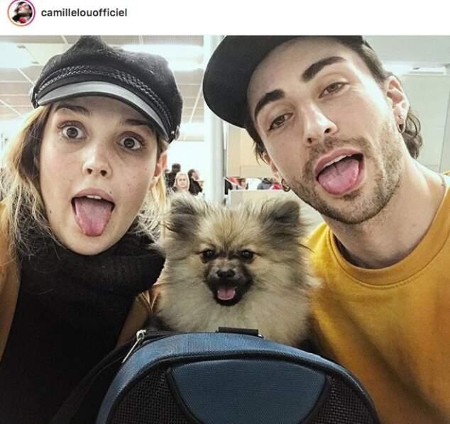 Camille Lou, son mec Gabriele Beddoni et leur chien s'envolent ! Direction : Rome !