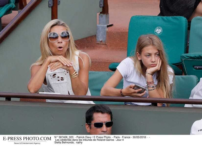 Natty et Stella Belmondo, mère et fille complices à Roland-Garros