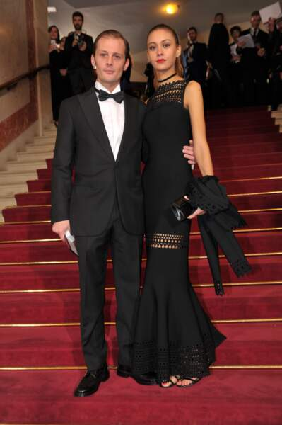 Nicolas Duvauchelle, venu remettre le César du meilleur court-métrage, et sa chérie