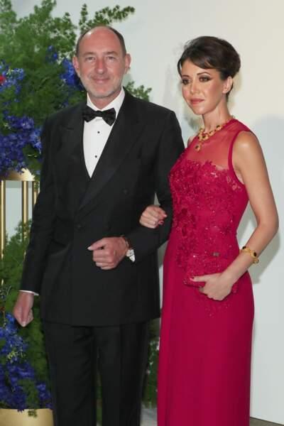 Pierre de Gaulle et son épouse au gala de la Croix Rouge