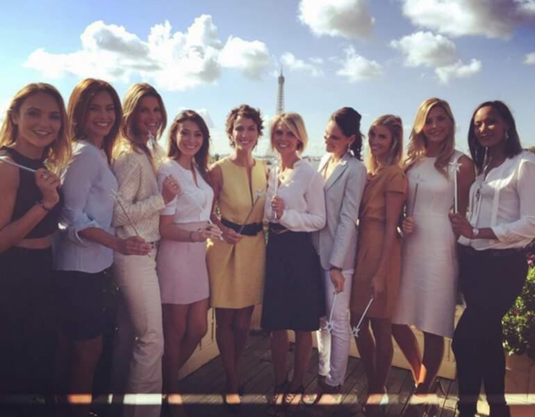 Du beau monde : de nombreuses Miss France étaient réunies pour une association.