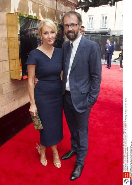 J. K. Rowling, la créatrice de Harry Potter, était venue avec son mari, Neil Murray,