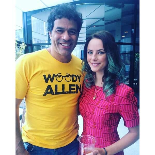 Kaya Scodelario est aussi une fan de football. Ici, elle pose avec Raï