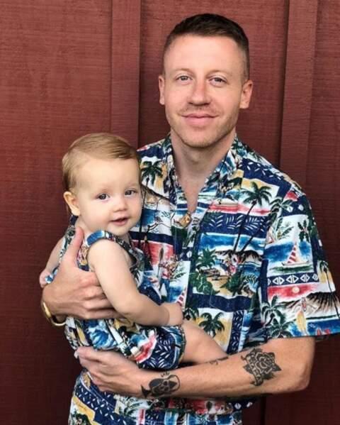 Macklemore et sa fille Colette étaient assortis.