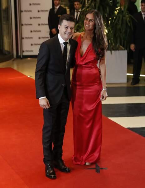L'ex-tennisman Guillermo Coria et son épouse Carla Francovigh