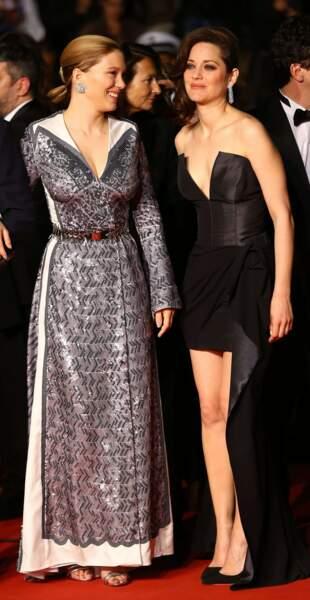 Léa Seydoux et Marion Cotillard, très complices