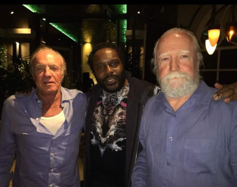 Le légendaire James Caan, Chad L. Coleman et Scott Wilson (Hershel)