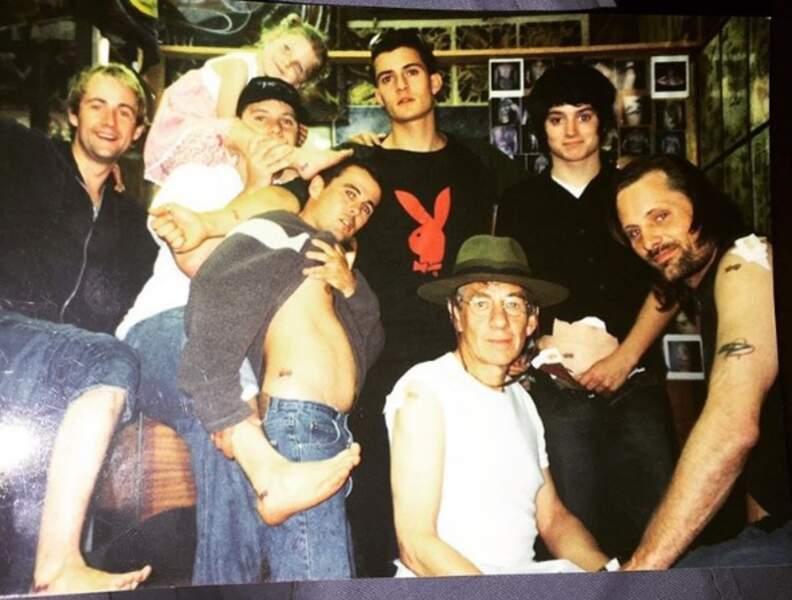 A l'époque du tournage du Seigneur des anneaux, ils se sont tous fait le même tatouage avec d'autres acteurs...