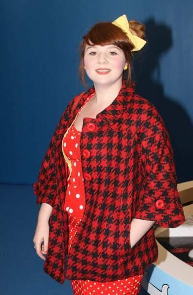 La chanteuse Luce, lauréate de Nouvelle Star, peu de temps après sa victoire