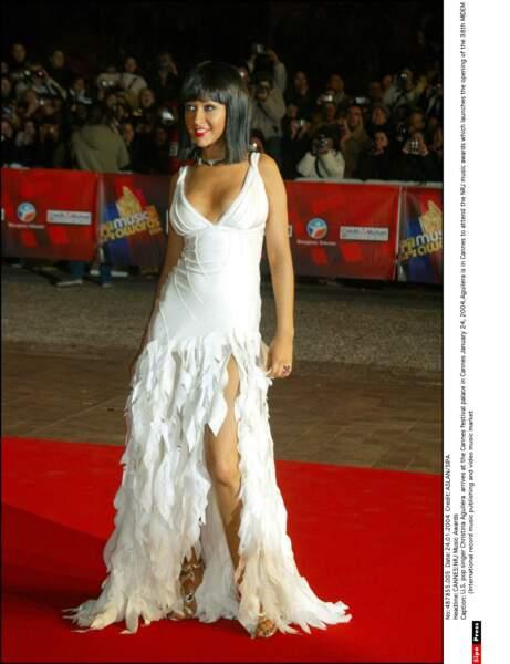 Sa consoeur Christina Aguilera n'est repartie qu'avec 2 trophées ! Et rien en cette année 2004.