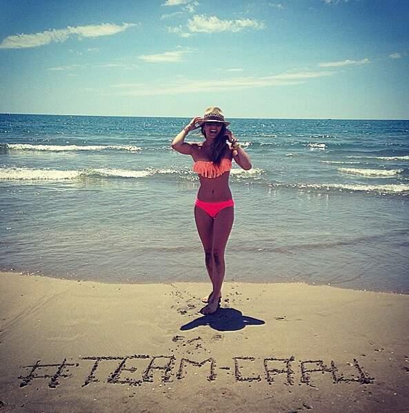 Petit coucou à la #TeamCapu en direct de la plage !