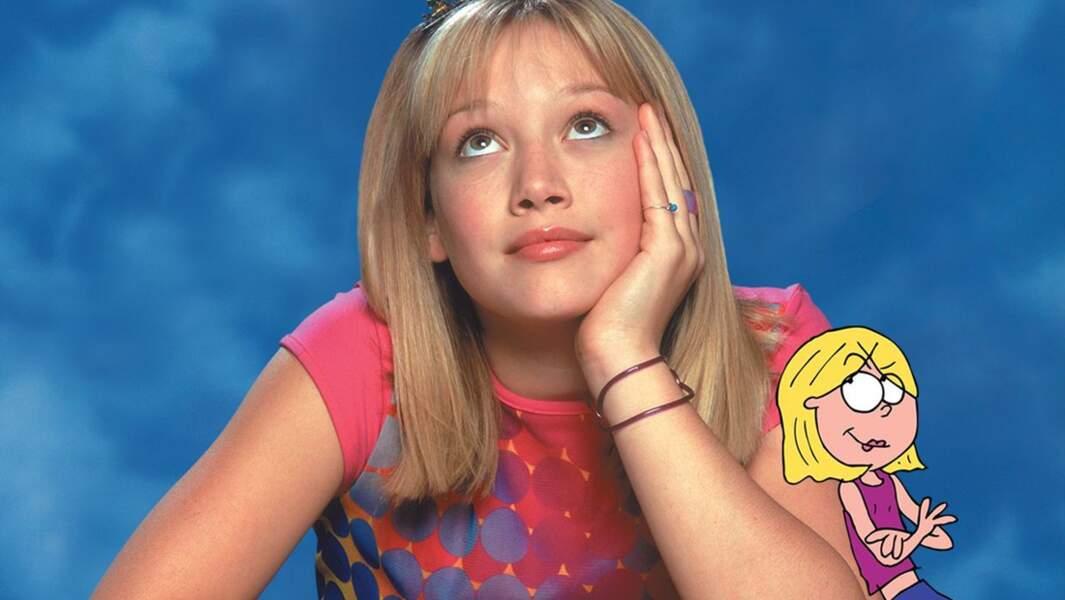 A 14 ans, Hilary Duff obtient le rôle principal de la série Lizzie McGuire diffusée sur Disney Channel